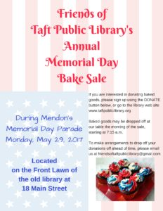 Annual Memorial Day Bake Sale -Flyer Email Version